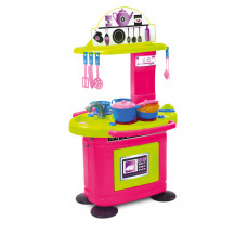 MOCHTOYS Dětská kuchyňka s 26 doplňky 10149 - růžová/zelená Preview