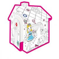 MOCHTOYS Coloring House 11122 Papírový domeček - omalovánky Princezna