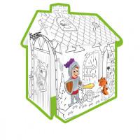 MOCHTOYS Coloring House 11123 Papírový domeček - omalovánky Rytíři