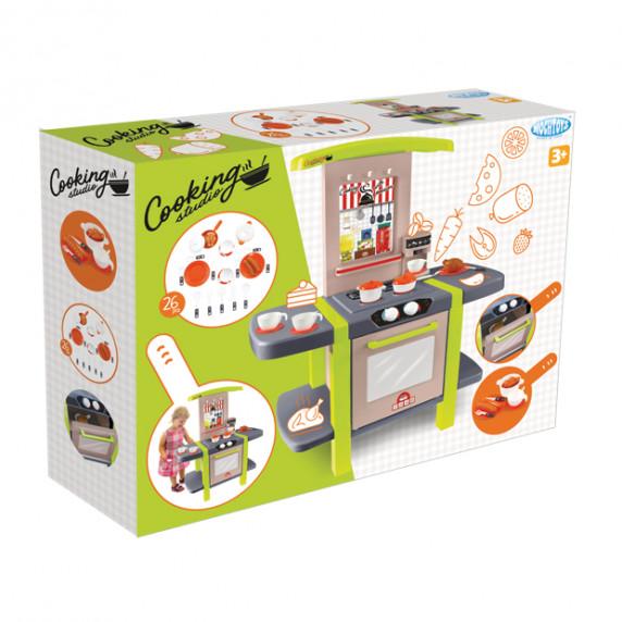 Dětská kuchyňka s 26 doplňky MOCHTOYS Cooking Studio 11854