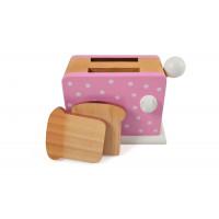Dětský dřevěný topinkovač Magni - růžový