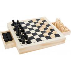Společenská hra 2 v 1 šachy + dáma Small Foot Preview