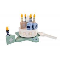 Dětský krájecí dort s melodií Magni - modrý