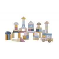 Dřevěné barevné tvary 60 kusů VIGA PolarB - pastelové