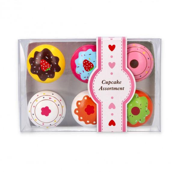 Dětské dřevěné muffiny - 6 ks