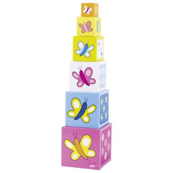 Kartonové kostky na stavění věží Inlea4Fun