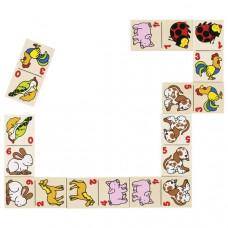 Domino v dřevěné krabičce Goki - zvířátka Preview