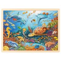 Dřevěná puzzle Goki - mořský svět