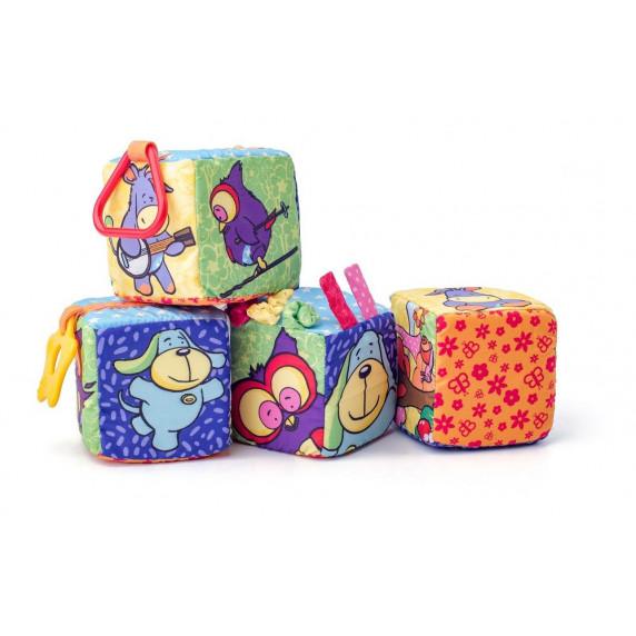 Textilní kostky Niny - 4 ks