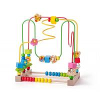Dětský dřevěný labyrint s počítadlem Woodyland