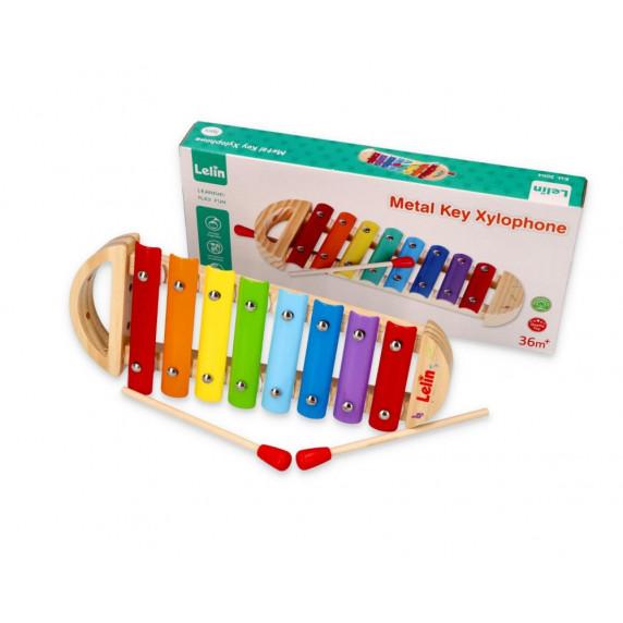 Dětský xylofón Lelin - duhový