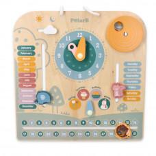 Dřevěná naučná tabulka - hodiny + kalendář VIGA PolarB Preview