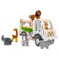 Dřevěné vozidlo na přepravu zvířat magna ZOO Car - Safari