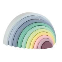 Dřevěná pastelová duha LELIN Rainbow Stack