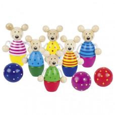 Dřevěný dětský bowling GOKI - myšky Preview