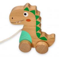 Dřevěný tahací dinosaurus LELIN