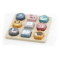 Dřevěná vkládačka - puzzle VIGA Shape Block Puzzle