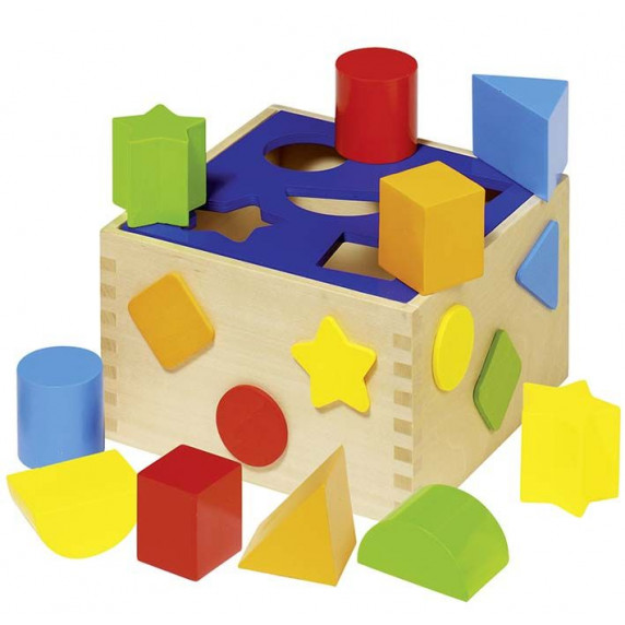 Dřevěná barevná vkládačka Goki SORT BOX