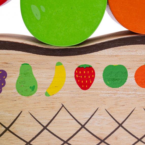 Dřevěná balanční hra Ovoce BIGJIGS Balance game fruit