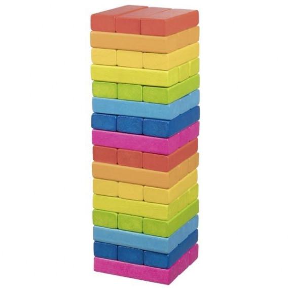 Jenga společenská dřevěná hra GOKI Rainbow - duhová