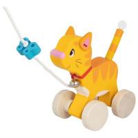 Dřevěná tahací kočička GOKI