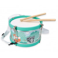 Dětský buben Lesní zvířátka Adam Toys - modrý