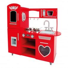 Dětská dřevěná kuchyňka BINO Play Kitchen - červená Preview