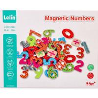 Barevná magnetická dřevěná čísla Lelin