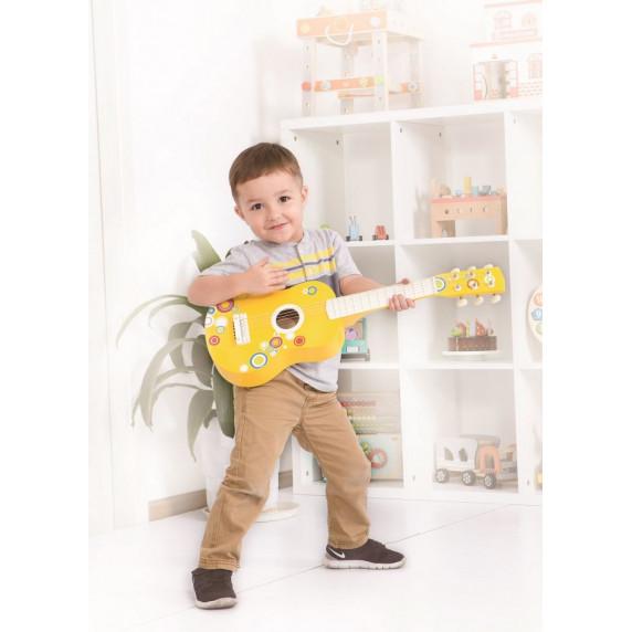Dřevěná kytara Lelin - bubble