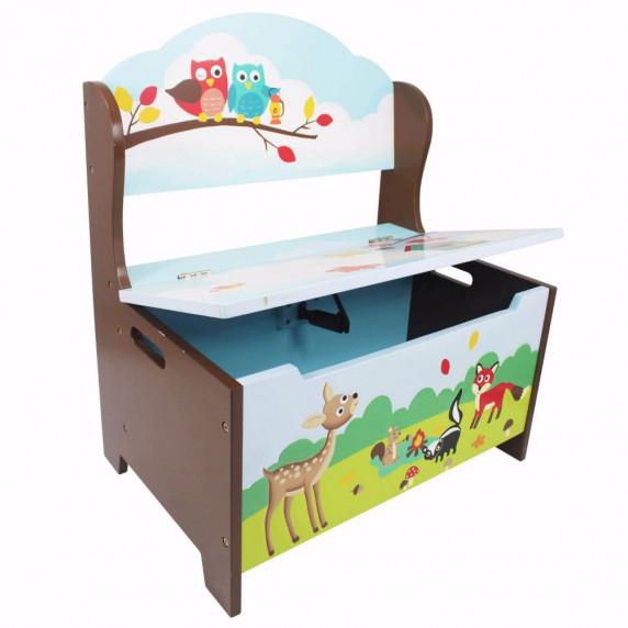 Dětská lavice s úložným prostorem FANTASY FIELDS Enchanted Woodlands