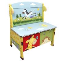 Dětská lavice s úložným prostorem FANTASY FIELDS Sunny Safari