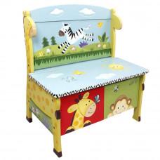 Dětská lavice s úložným prostorem FANTASY FIELDS Sunny Safari Preview