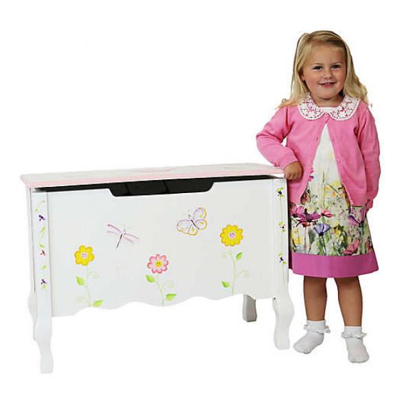 Dětská lavice s úložným prostorem FANTASY FIELDS Princess & Frog