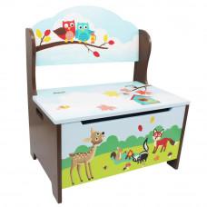 Dětská lavice s úložným prostorem FANTASY FIELDS Enchanted Woodlands Preview