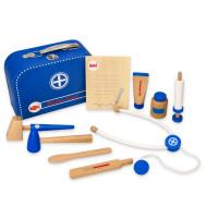 Lékařský dřevěný set v kufříku Lelin