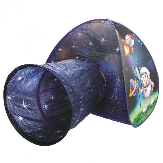 Dětský hrací stan s tunelem Vesmír BINO Tent with Tunnel Astronaut