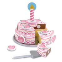 Dřevěný krájecí dort MELISSA & DOUG Triple Layer Party Cake