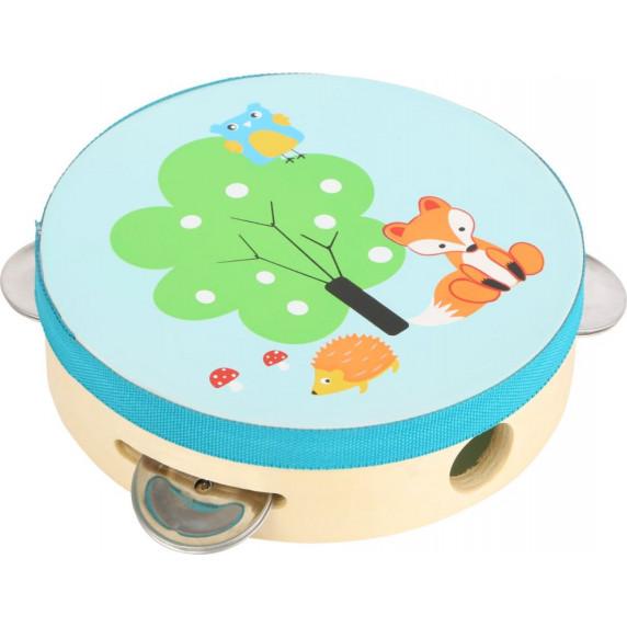 Dětská dřevěná tamburína Small Foot - liška
