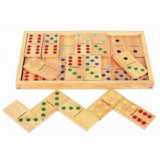 Domino v dřevěné krabičce BIGJIGS Jumbo Dominoes Preview