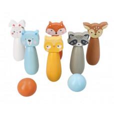 Dřevěný dětský bowling ADAM TOYS - lesní zvířátka Preview