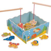 Dětský rybářský set BIGJIGS - modrý
