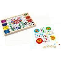 Dřevěná společenská hra 2v1 Mozaika a Člověče, nezlob se! VIGA