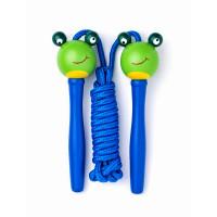Švihadlo s dřevěnou rukojetí Woodyland Skipping Rope FROG - modré