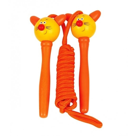 Švihadlo Woodyland Skipping Rope CAT - kočička oranžová
