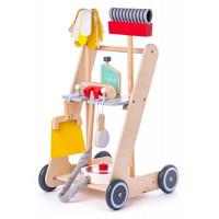 Dětský dřevěný úklidový vozík Woodyland