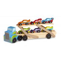 Nákladní automobil na přepravu závodních autíček MELISSA & DOUG