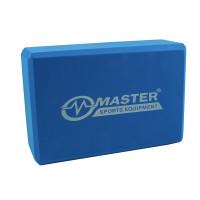 Jóga kostka MASTER 23 x 15 x 7,5 cm - modrá