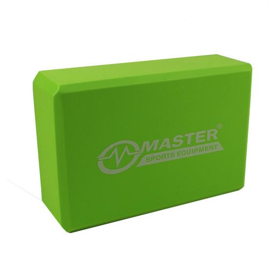 Jóga kostka MASTER 23 x 15 x 7,5 cm - zelená