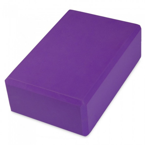 Jóga kostka MASTER 23 x 15 x 7,5 cm - fialová