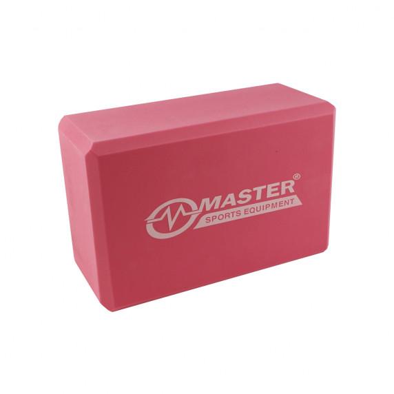 Jóga kostka MASTER 23 x 15 x 10 cm - červená